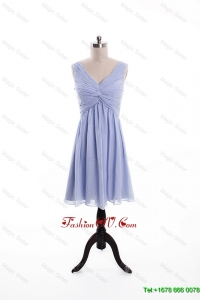 Vintage Ruching and Beading Lavender Short Prom Dresses