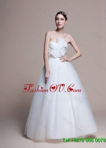2016 Custom Made A Line Sweetheart Wedding Dresses with Ruching