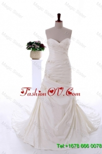 Remarkable 2016 Beading and Appliques Court Train Wedding Dresses