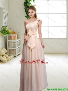 Discount One Shoulder Bridesmaid Dresses in Champagne