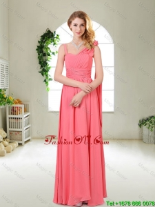 Luxurious Asymmetrical prom Dresses in Watermelon Red