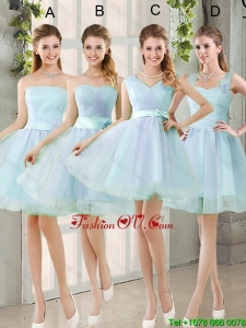 2016 Summer A Line Bridesmaid Dresses with Belt