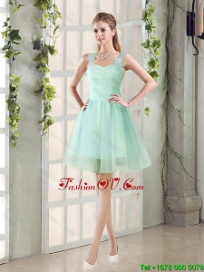 2016 Custom Made A Line Straps Dama Dresses with Ruching