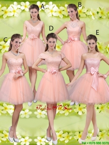 Suitable A Line Hand Made Flowers Modest Prom Dresses with Appliques