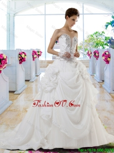 Gorgeous Sweetheart 2016 A Line Beaded Wedding Dresses