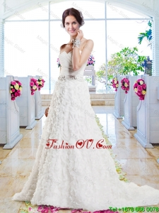 Affordable A Line Sweetheart 2016 Wedding Gowns with Appliques