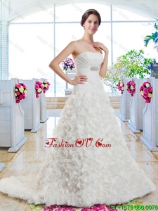 New Arrivals A Line Beaded New Arrivals A Line Beaded Wedding Dresses with AppliquesWedding Dresses with Appliques