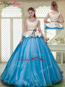 Classical Ball Gown Scoop Quinceanera Dresses with Beading