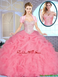 Exclusive Sweetheart Quinceanera Dresses Beading and Ruffles