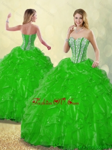 Fashionable 2016 Beading Quinceanera Dresses with Sweetheart