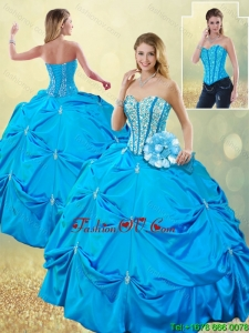 Detachable Elegant Sweetheart Quinceanera Dresses with Beading and Pick Ups