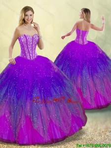 Detachable New Style Ball Gown Sweet 16 Dresses in Multi Color for 2016