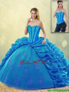 Detachable Popular Ball Gown Beading Sweet 16 Dresses with Pick Ups
