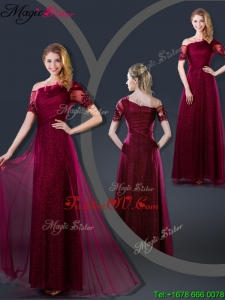 Perfect Empire Appliques Prom Dresses with Asymmetrical