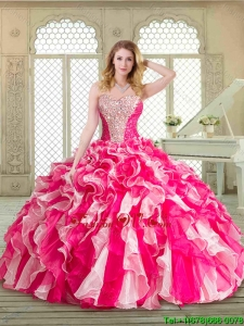 2016 Lovely Sweetheart Beading Quinceanera Gowns in Multi Color