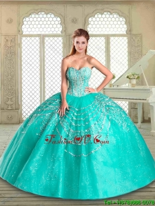 2016 New Style Sweetheart Quinceanera Gowns with Beading and Appliques