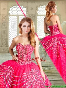2016 Gorgeous Floor Length Pretty Quinceanera Dresses with Beading and Appliques