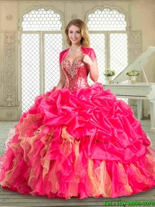 2016 Luxurious Sweetheart Pretty Quinceanera Dresses with Beading and Ruffles
