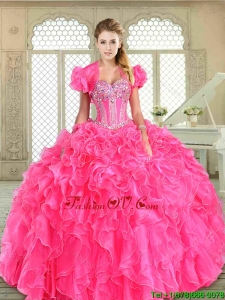 2016 New Style Floor Length Pretty Quinceanera Dresses with Beading and Ruffles