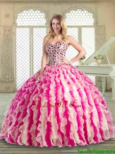 Lovely Sweetheart Classic Quinceanera Dresses with Beading and Ruffles