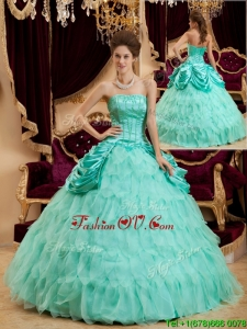 2016 Best Selling Ball Gown Floor Length Ruffles Quinceanera Dresses