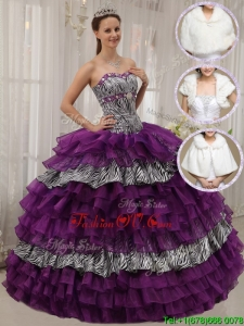 2016 Modest Purple Ball Gown Sweetheart Quinceanera Dresses