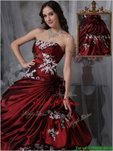 Classic Ball Gown Strapless Quinceanera Gowns with Appliques