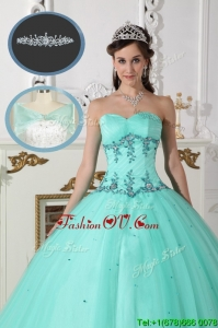Modest Green Sweetheart Quinceanera Gowns with Beading