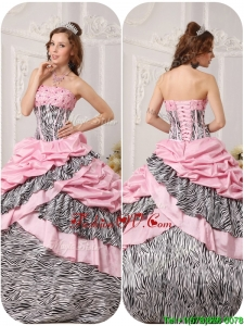 Elegant Ball Gown Strapless Floor Length Beading Quinceanera Dresses