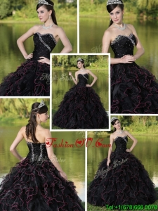 Fall New Style Beading Sweetheart Quinceanera Dresses with Ruffles Layered