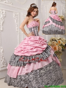 2016 Custom Made Ball Gown Strapless Quinceanera Gowns in Multi Color
