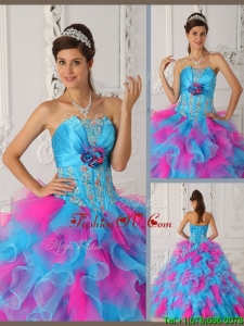 Classical Ball Gown Appliques Quinceanera Dresses in Multi Color