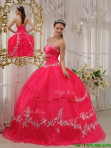 Custom Made Ball Gown Sweetheart Appliques Quinceanera Dresses