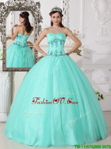 Spring Romantic Green Ball Gown Sweetheart Quinceanera Dresses