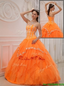 Designer Ball Gown Sweetheart Appliques Quinceanera Dresses