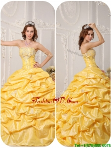 Lovely Ball Gown Pick Ups and Appliques Quinceanera Gowns