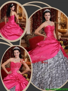 Lovely Ball Gown Sweetheart Quinceanera Dresses in Hot Pink