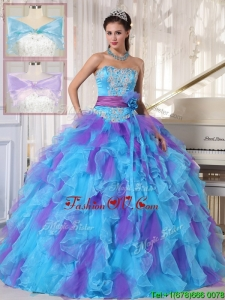 Modern Strapless Beading and Appliques Quinceanera Gowns