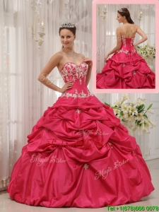 Simple Ball Gown Sweetheart Appliques Quinceanera Dresses