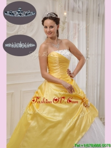 Winter Designer Ball Gown Strapless Quinceanera Dresses with Beading