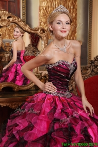 Winter Latest Ball Gown Sweetheart Beading and Ruffles Quinceanera Dresses