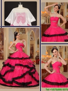 New style Ball Gown Strapless Quinceanera Gowns with Beading