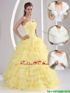 Popular Beading and Appliques Sweetheart Quinceanera Dresses