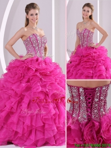 Pretty Fuchsia Ball Gown Sweetheart Quinceanera Dresses