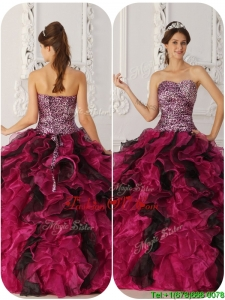 Cheap Ball Gown Floor Length Sweet Sixteen Dresses in Multi Color