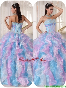 Fashionable Sweetheart Sweet Sixteen Dresses with Ruffles and Appliques