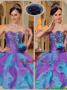 Gorgeous Multi Color Sweet Sixteen Dresses with Beading and Ruffles