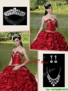 Popular Brush Train Sweet Sixteen Dresses with Appliques and Pick Ups
