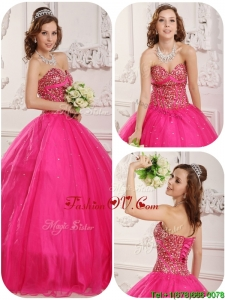 Unique A Line Sweetheart Quinceanera Dresses with Beading