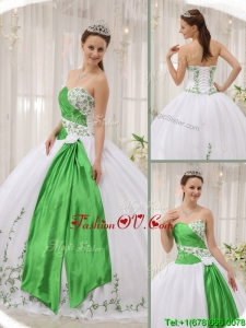 Unique Ball Gown Sweetheart Quinceanera Dresses with Embroidery